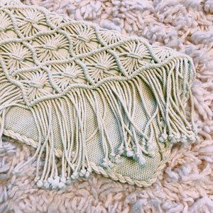 American Eagle Outfitters Bags - American Eagle Outfitters Macrame Cream Clutch